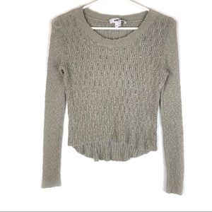 Helmut Lang 100% Silk Taupe Cropped Sweater.